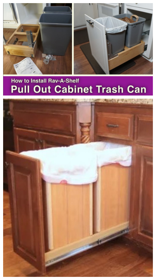 Install a rolling recycling bin in your kitchen counter
