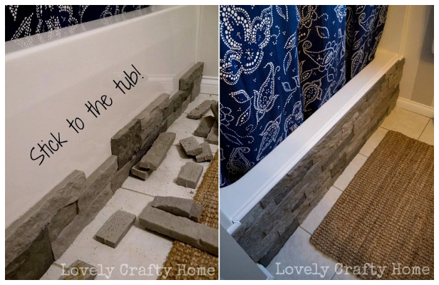 Dress up your bland bathtub with air stone.