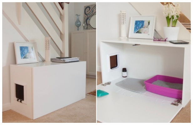Create A Litter Box Cabinet - Ways to Hide The Eyesores In Your Home