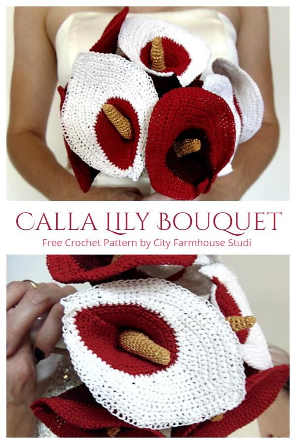 Crochet Calla Lily Flower Bouquet Crochet Free Patterns