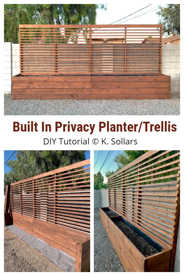 Built In Privacy Planter/Trellis DIY Tutorial