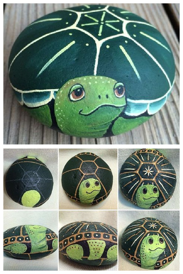 DIY Rock Turtle Garden Decor Ideas and Tutorials + Video