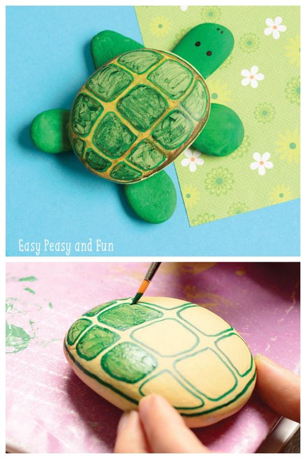 DIY Rock Sea Turtle Garden Decor Ideas and Tutorials